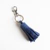 blue leather tassel