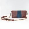 crossbody wallet brown blue