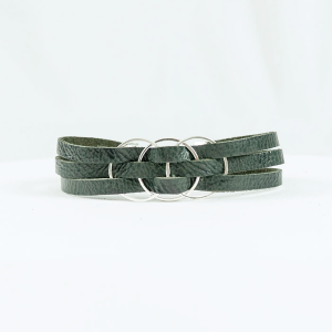 leather bracelet graphite