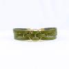leather bracelet olive