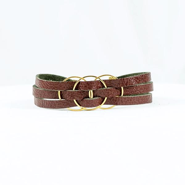 leather bracelet sangria