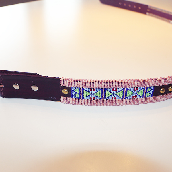 large beaded belt